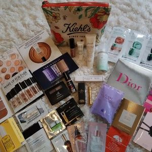 SOLD - Kiehls Makeup Bag + Beauty Bundle
